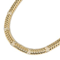 Bulgari 18k Yellow Gold 3.00ct Diamond Link Necklace