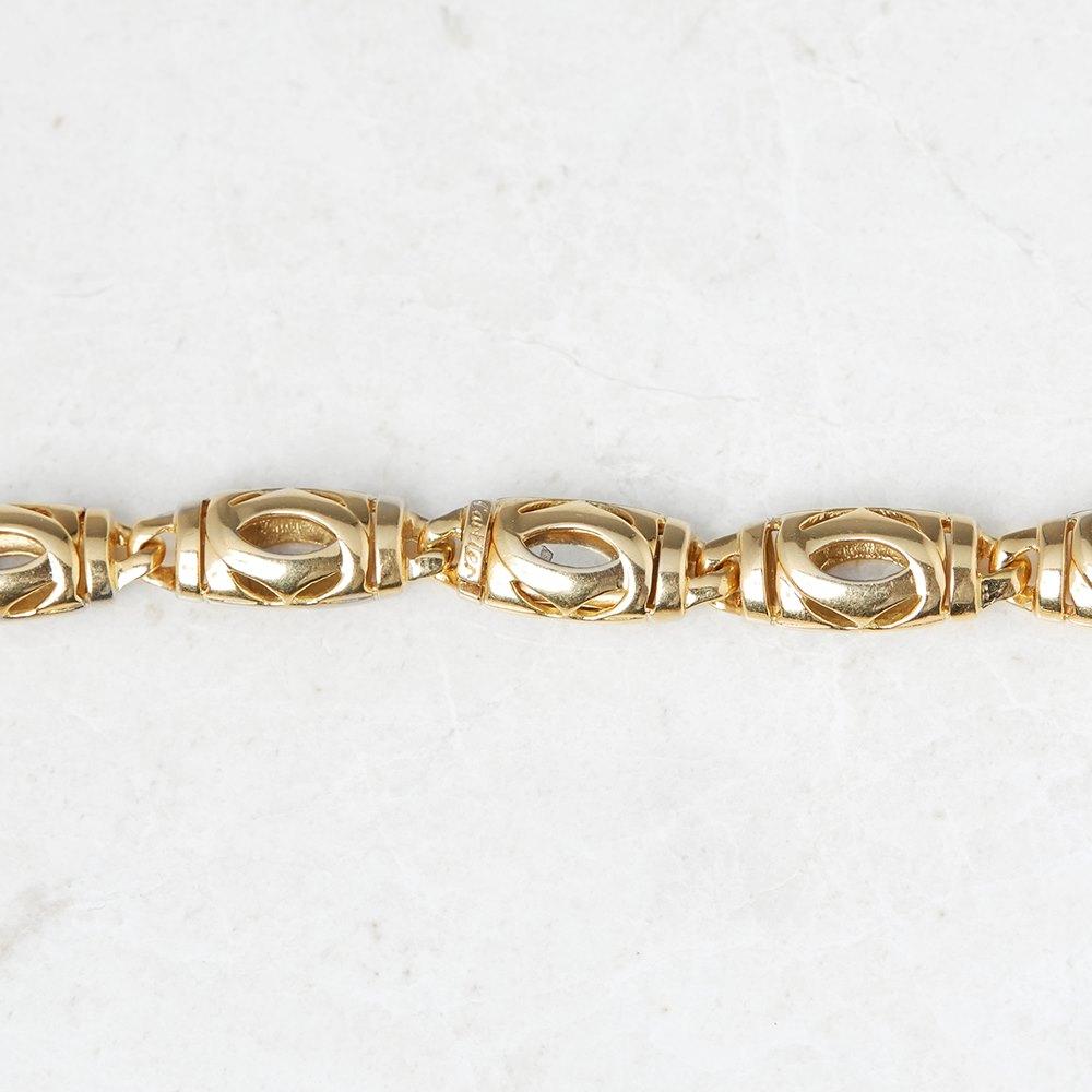 Cartier 18k Yellow Gold Double C Design Necklace
