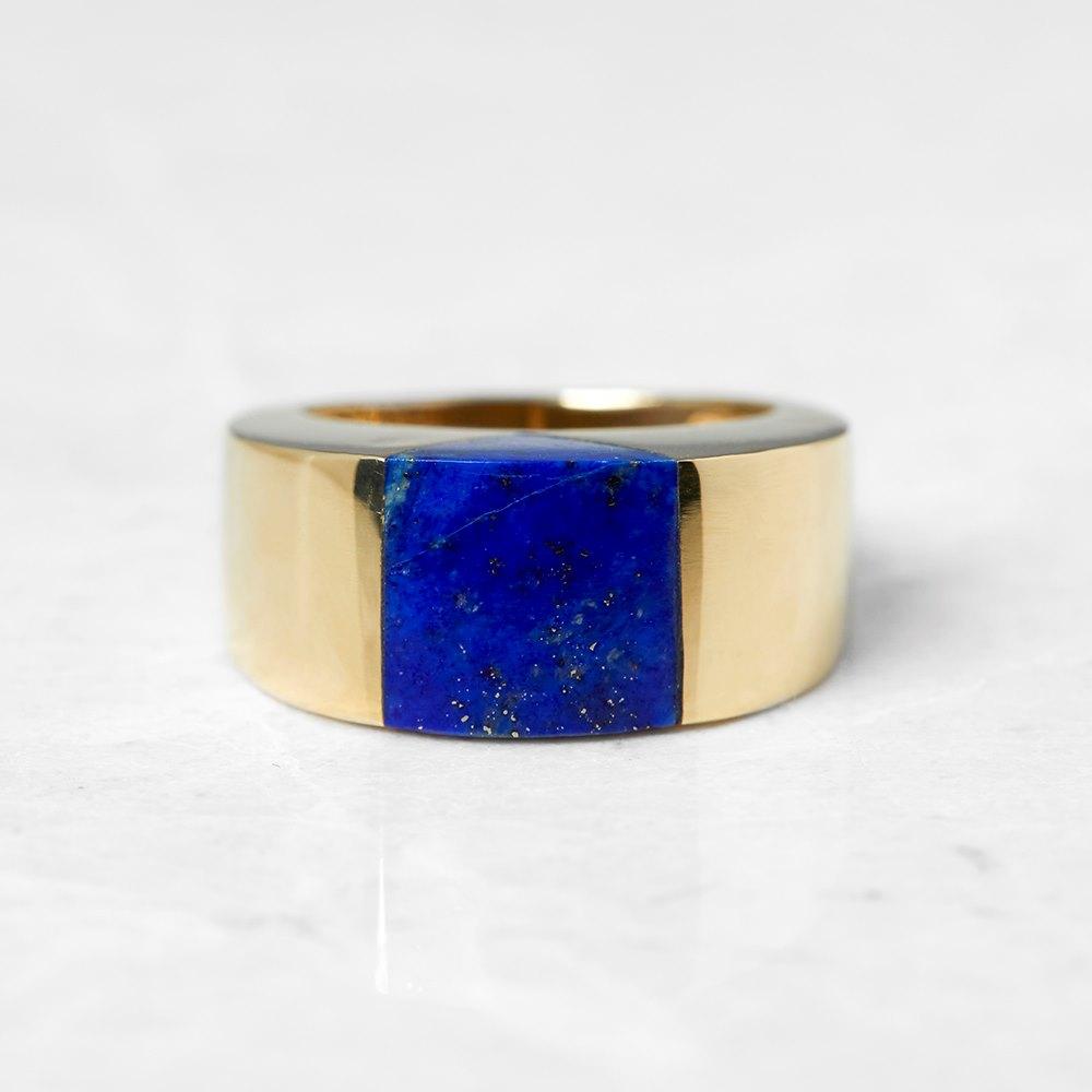 Tiffany & Co. 18k Yellow Gold Lapis Lazuli Ring