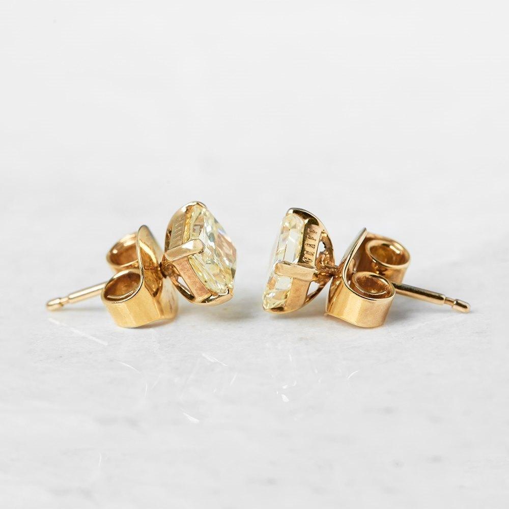 Graff Diamonds 18k Yellow Gold 2.66ct Yellow Diamond Stud Earrings ...