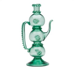 SCARCE ANTIQUE GREEN ENGLISH GLASS EWER 19TH C.