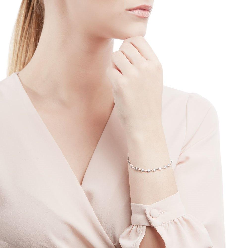 Tiffany & Co. Platinum 2.30ct Diamonds By The Yard Bracelet
