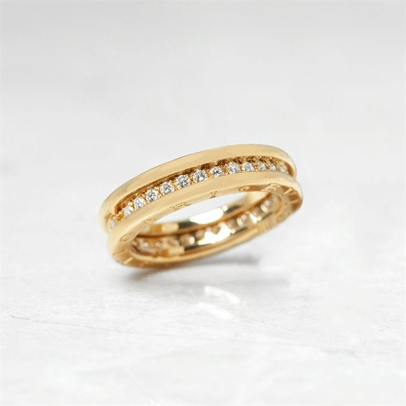 Bulgari 18k Yellow Gold 0.30ct Diamond B.Zero 1 Ring