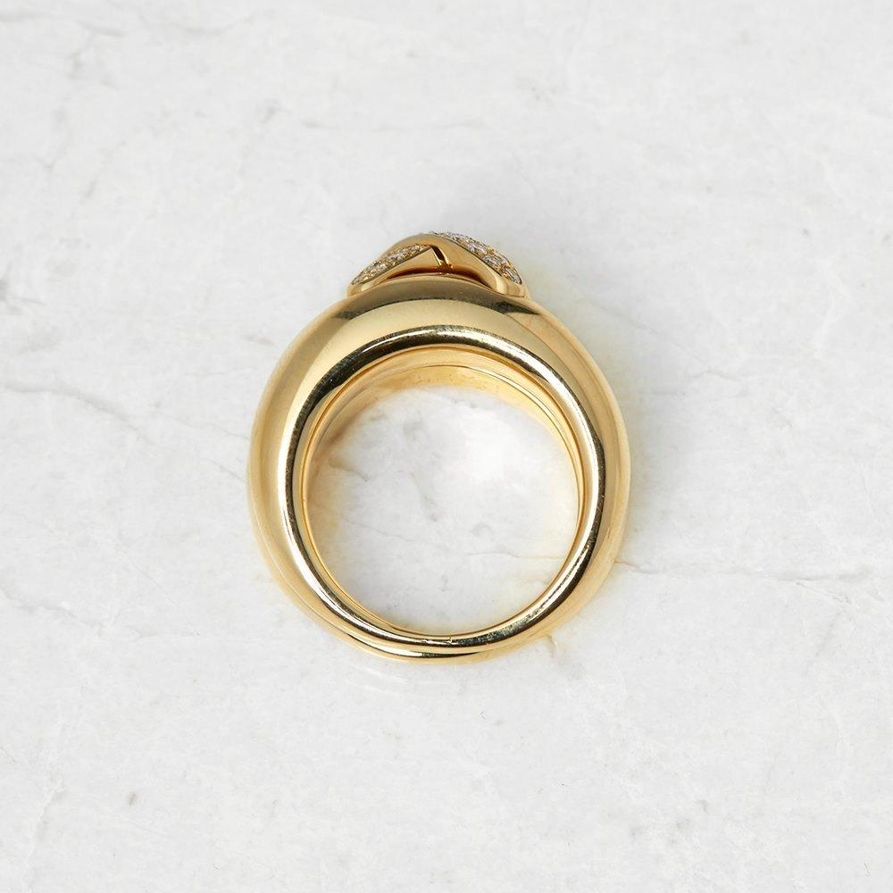 Chaumet 18k Yellow Gold 0.30ct Diamond Liens Ring