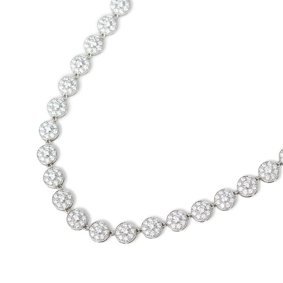 Tiffany & Co. Platinum Diamond Circlet Necklace