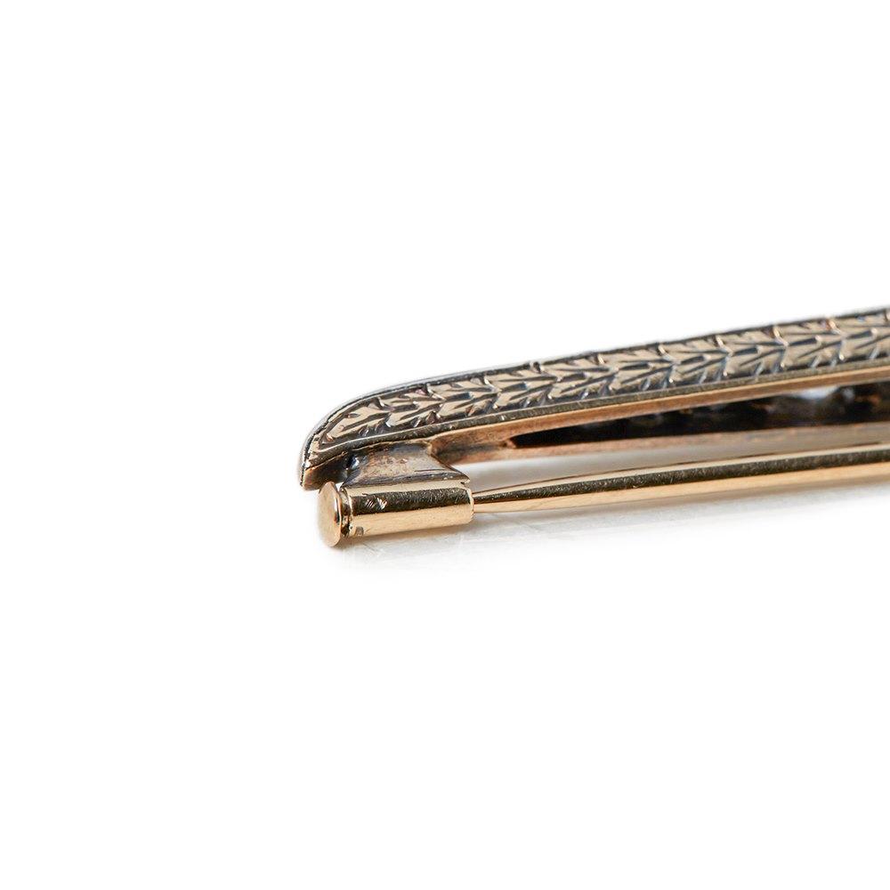 Tiffany & Co. 18k Yellow & White Gold Ruby & Diamond Vintage Pin Brooch