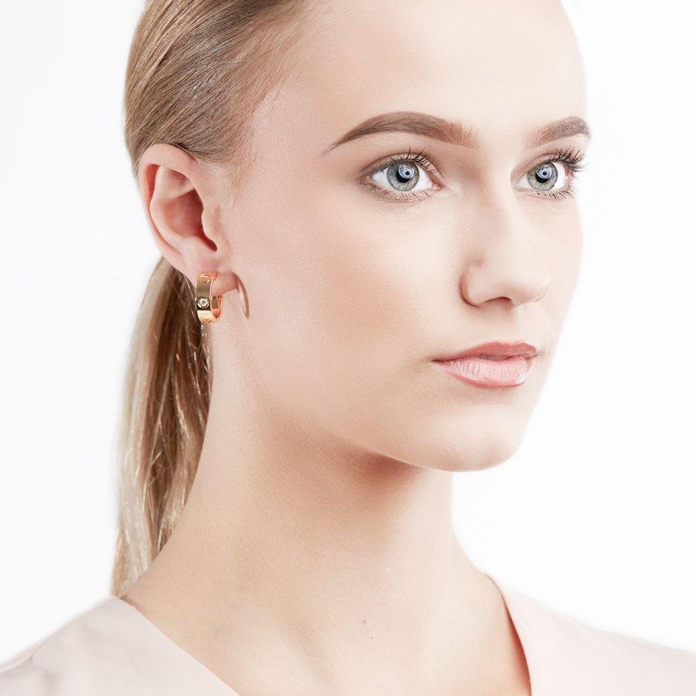 Cartier 18k Yellow Gold Diamond Love Earrings