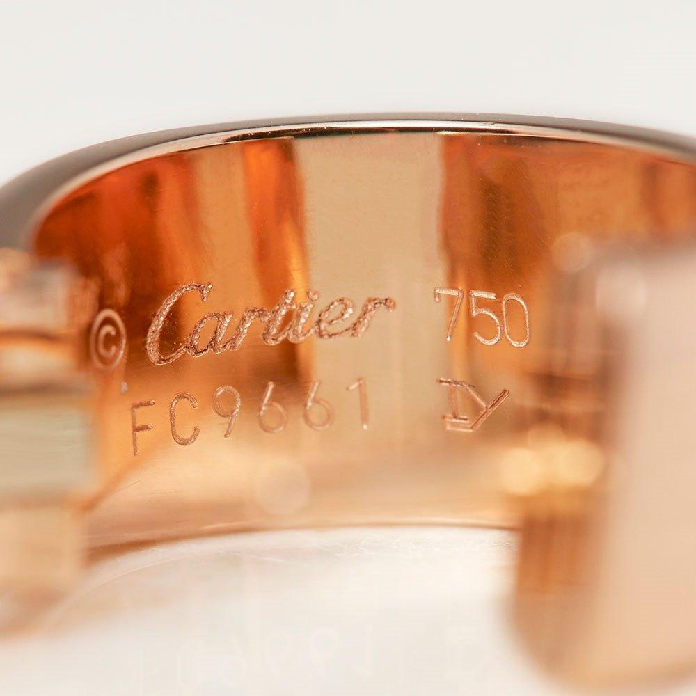 Cartier 18k Rose Gold Logo de Cartier Hoop Earrings