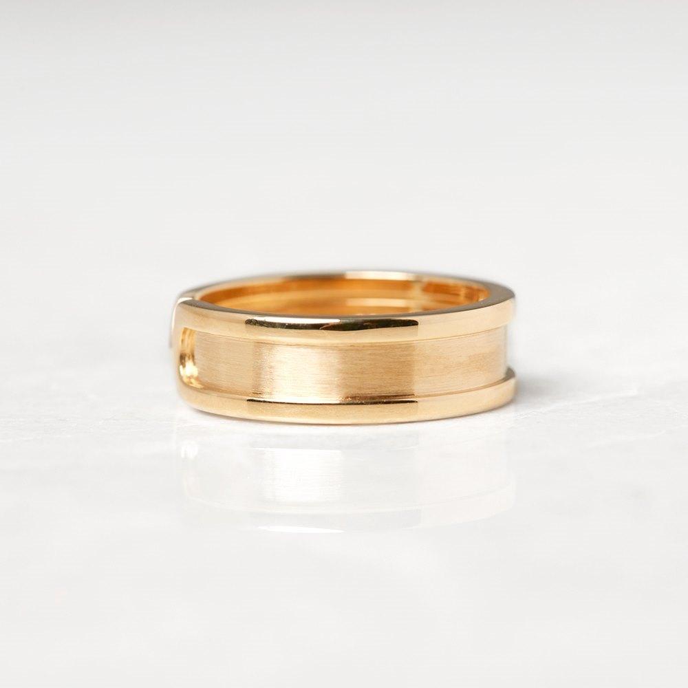Cartier 18k Yellow Gold Double C Logo de Cartier Ring