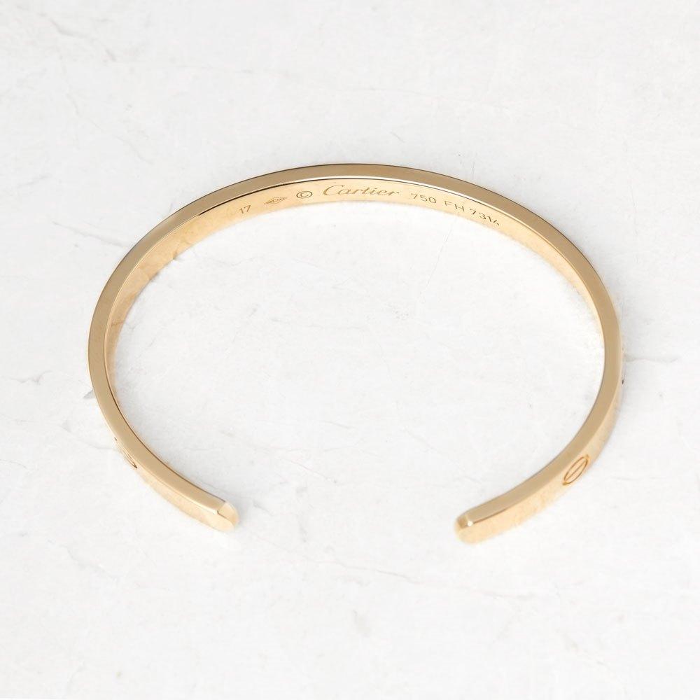 Cartier 18k Yellow Gold Open Love Cuff Bracelet