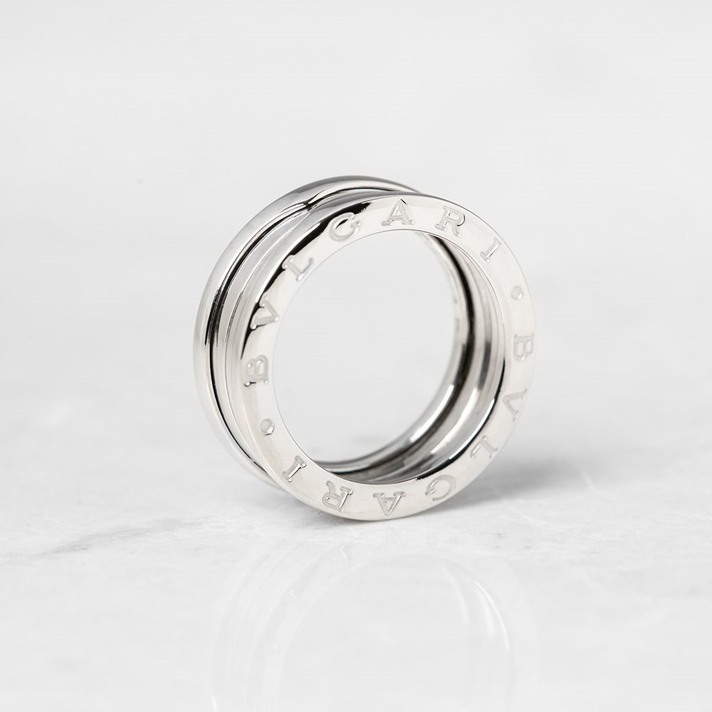 Bulgari 18k White Gold 4 Band B.Zero 1 Ring Size M.5