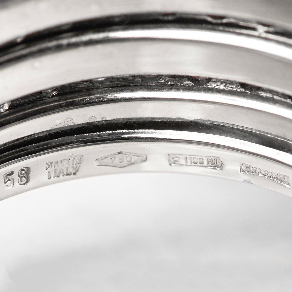 Bulgari 18k White Gold Diamond B.Zero 1 Ring
