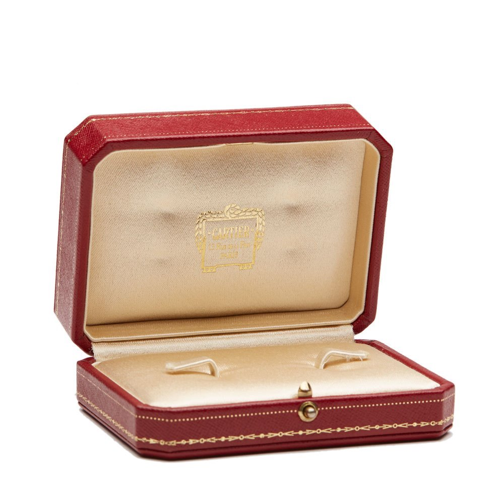 Cartier 18k White, Yellow & Rose Gold Trinity Cufflinks