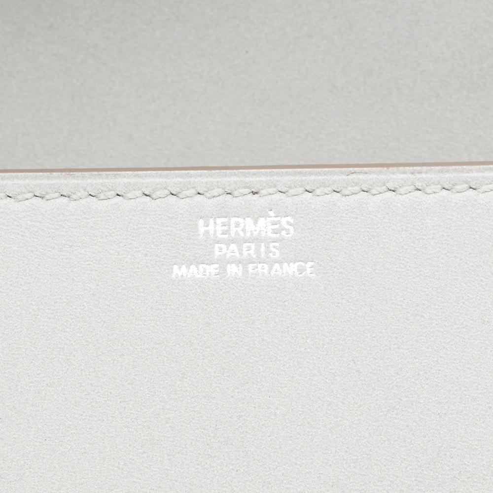 herm s gris perle tadelakt leather medor 23 clutch hb1022 ebay. Black Bedroom Furniture Sets. Home Design Ideas