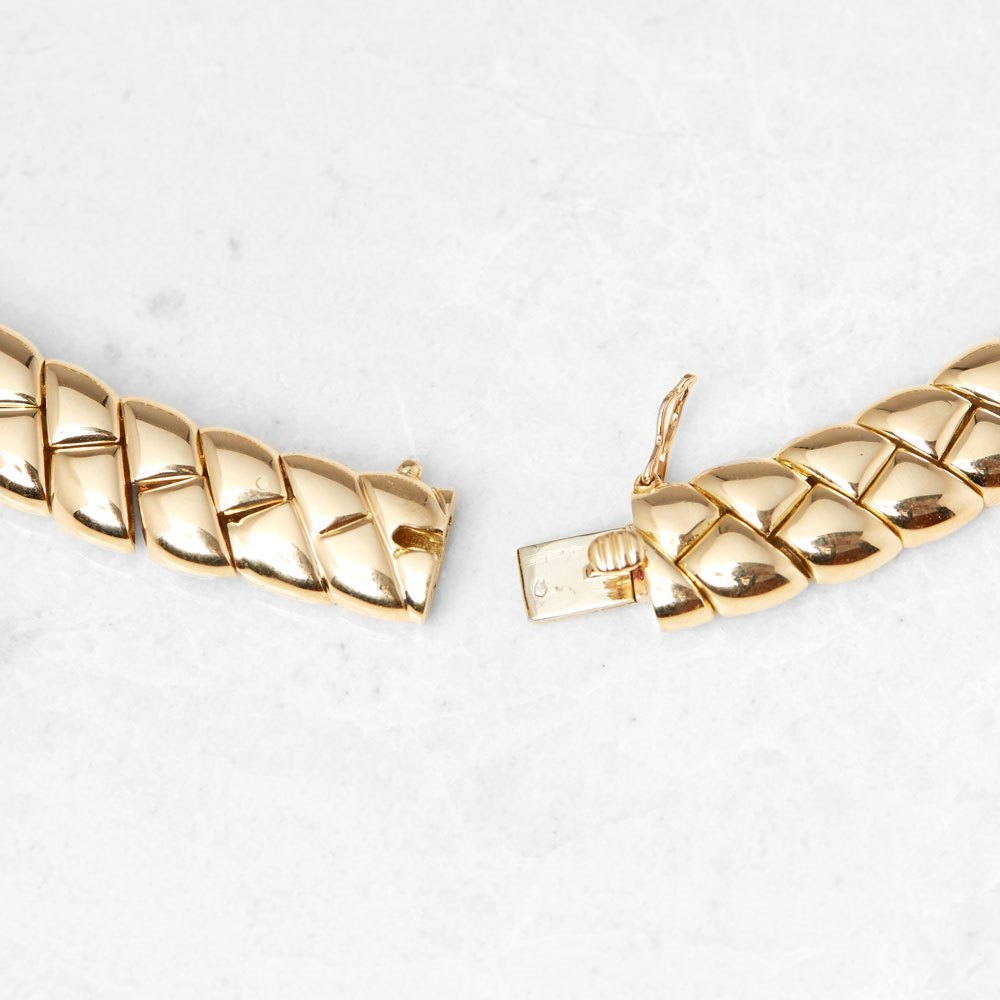 Van Cleef & Arpels 18k Yellow Gold Diamond Link Necklace