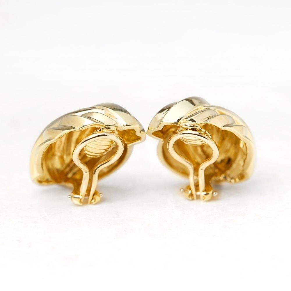 Tiffany & Co. 18k Yellow Gold Ear Clips