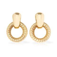Tiffany & Co. 18k Yellow Gold Woven Hoop Ear Clips