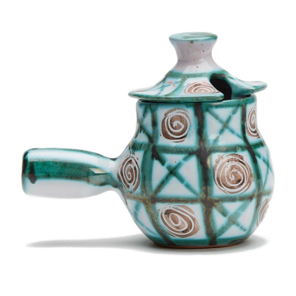 robert picault vallauris art pottery conserve pot 1950 39 s ebay. Black Bedroom Furniture Sets. Home Design Ideas