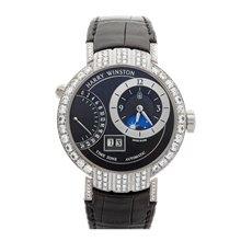 Harry Winston Premier Excenter Timezone Afterset Diamonds 41mm 18K White Gold - PRNATZ41WW001