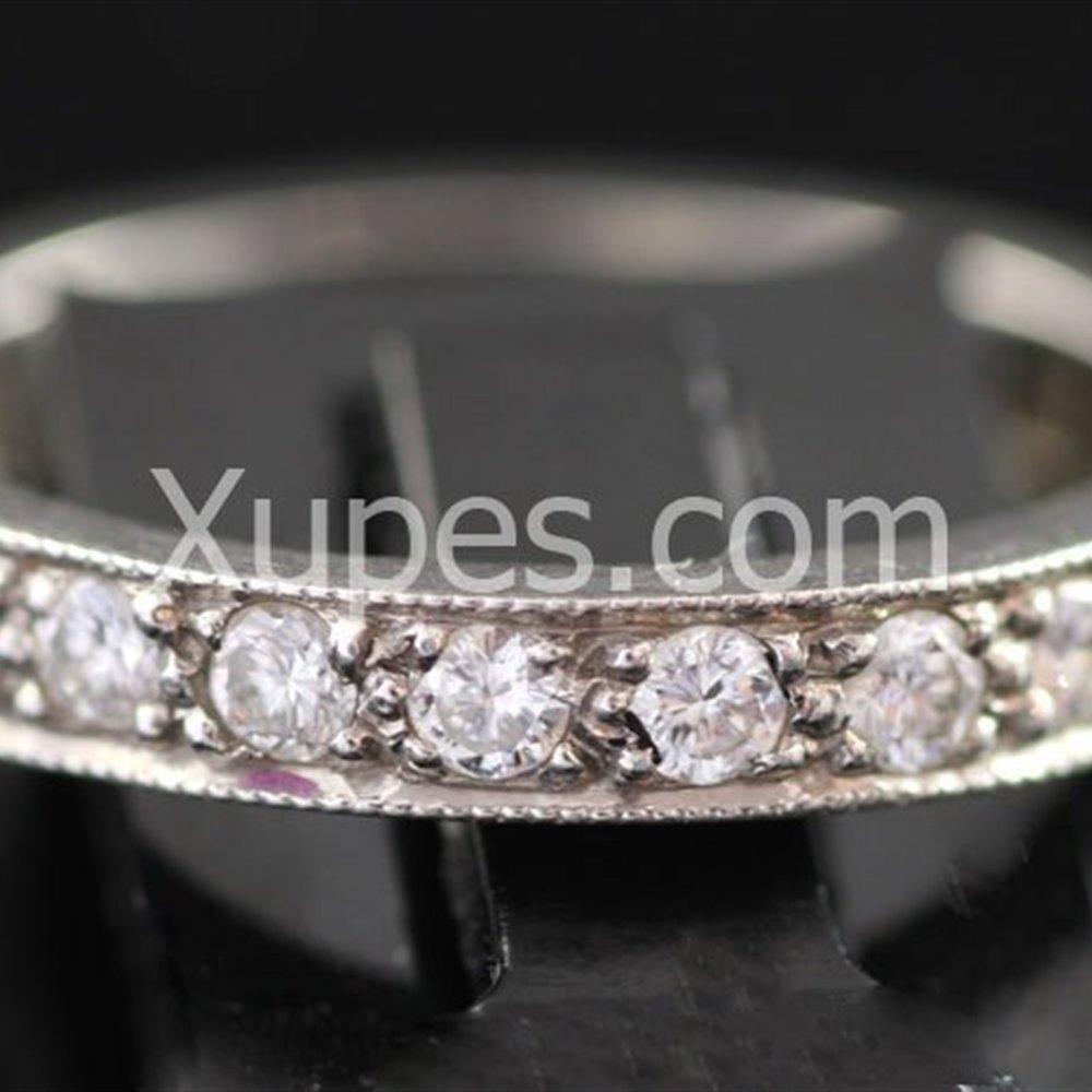 Stunning 1950'S Hallmarked Platinum Full Eternity Diamond Ring