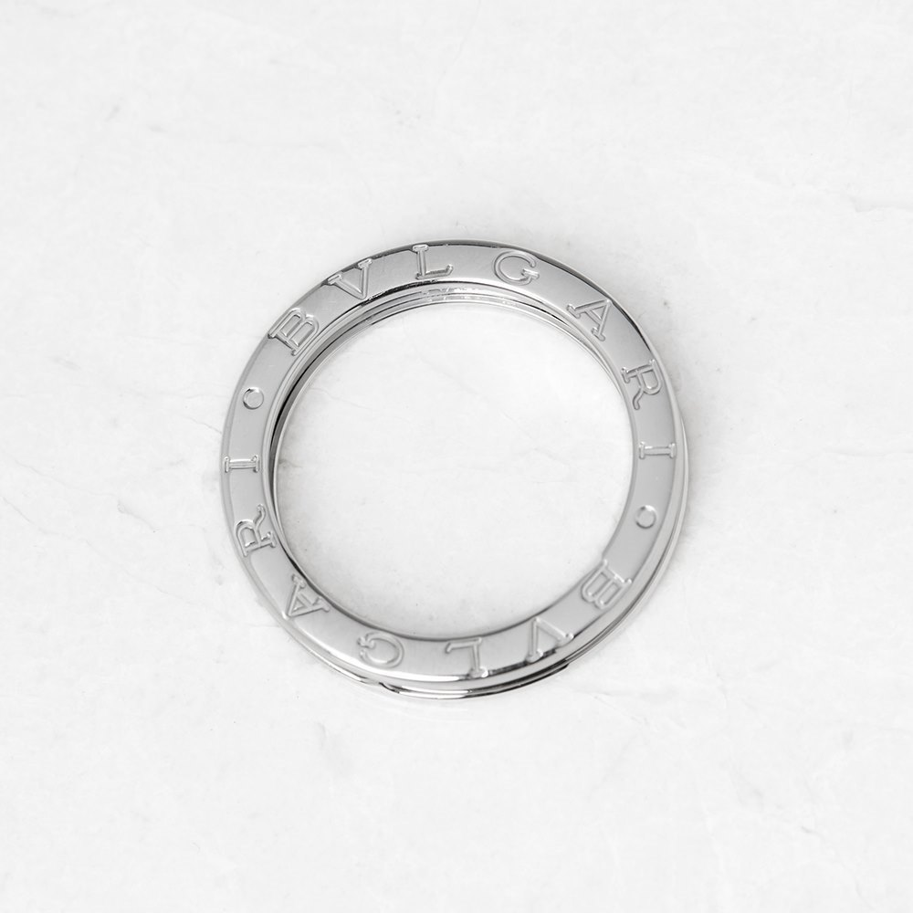 Bulgari 18k White Gold 1 Band B.Zero 1 Ring Size V