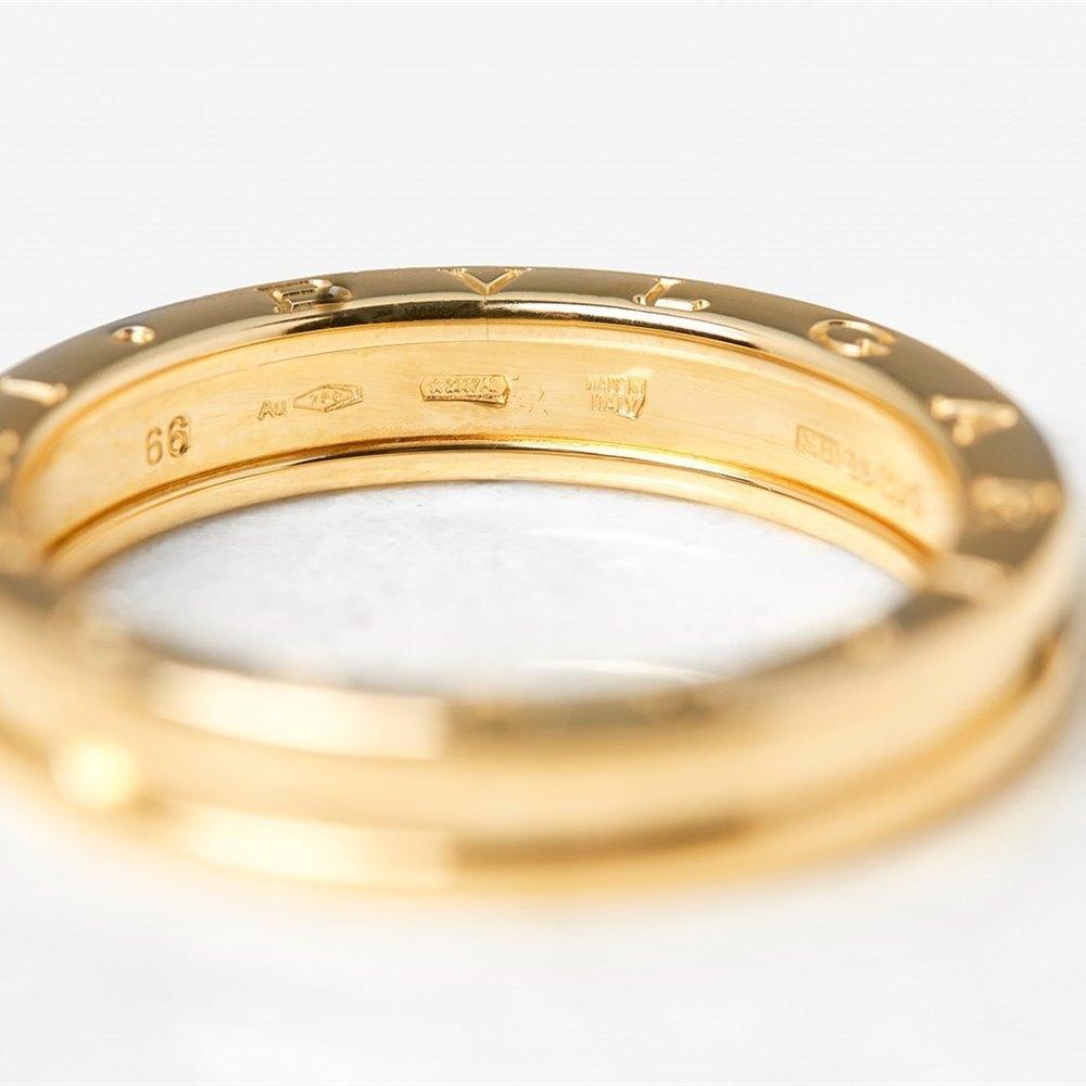Bulgari 18k Yellow Gold 1 Band B.Zero 1 Ring Size X