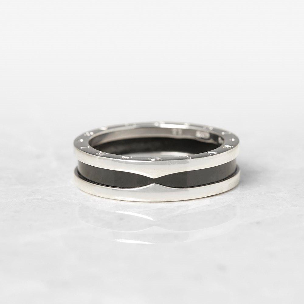 bulgari sterling silver black ceramic b zero 1 ring. Black Bedroom Furniture Sets. Home Design Ideas