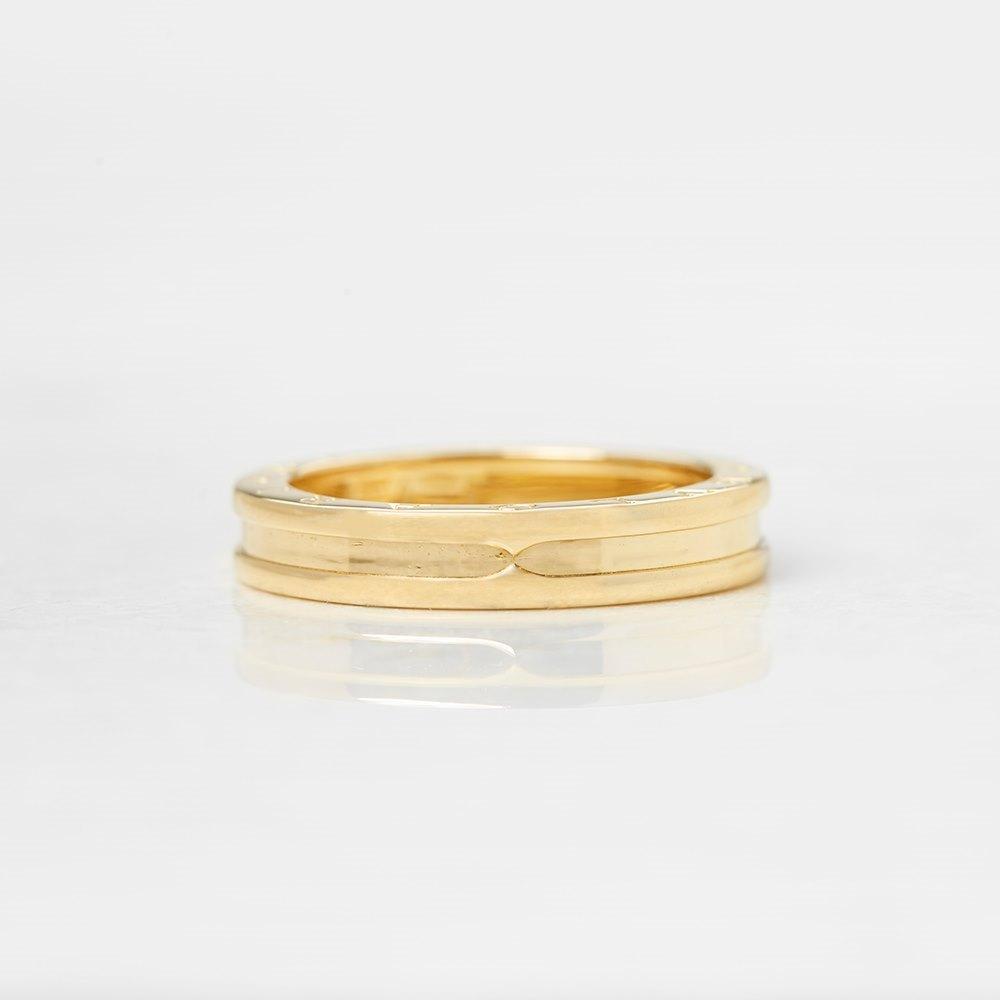 Bulgari 18k Yellow Gold 1 Band B.Zero 1 Ring Size V