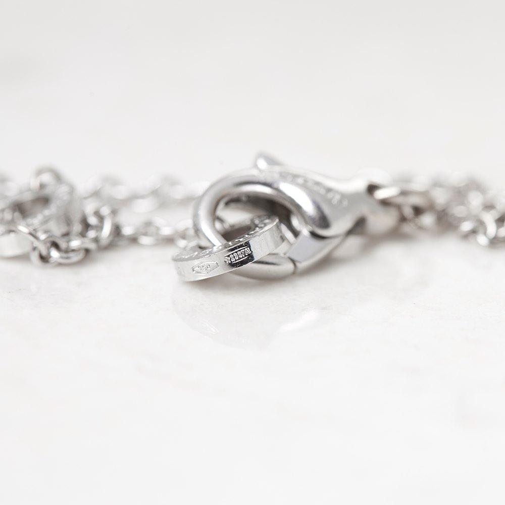 Bulgari 18k White Gold Diamond Parentesi Necklace
