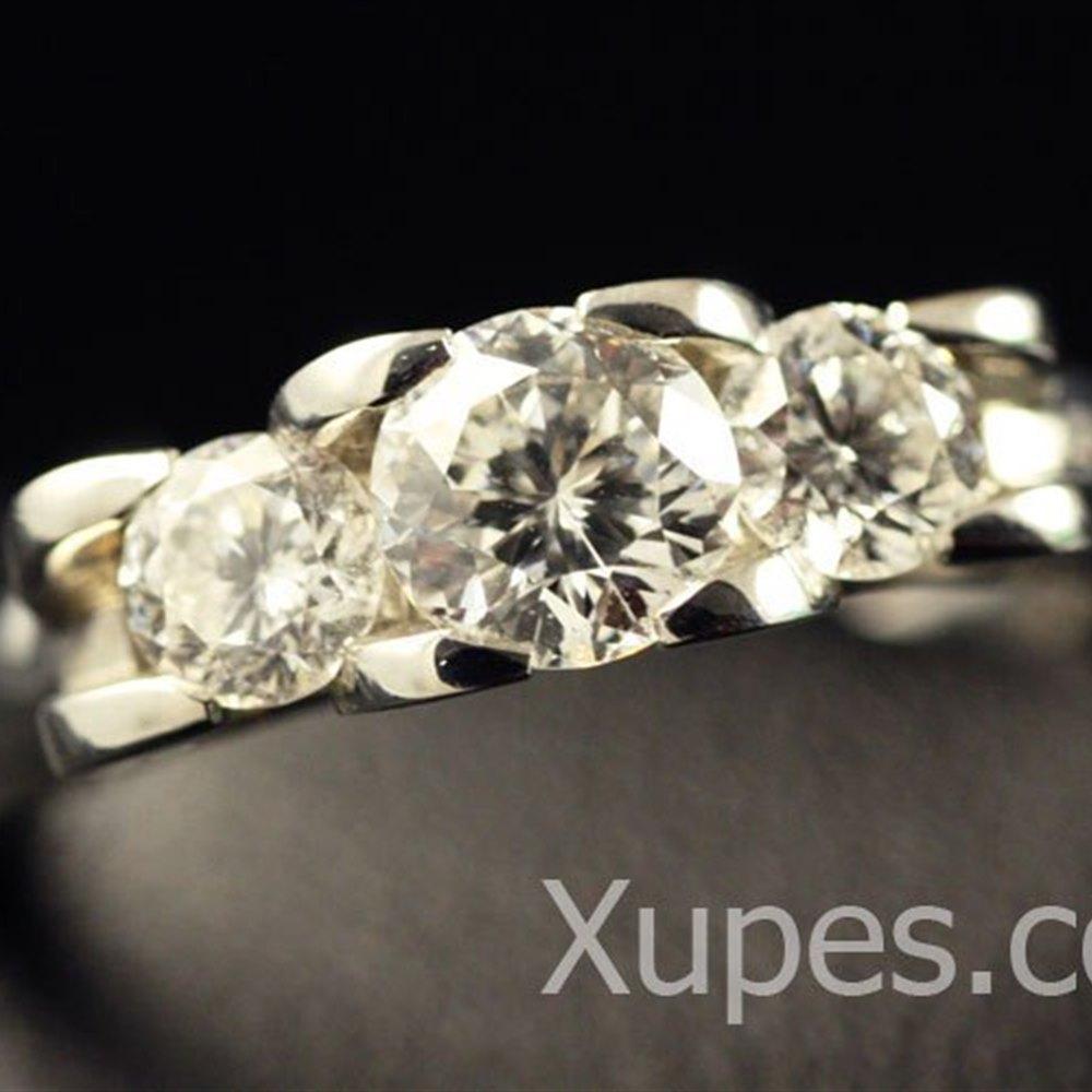Roberto Coin Cento Platinum 3 Diamond Ring