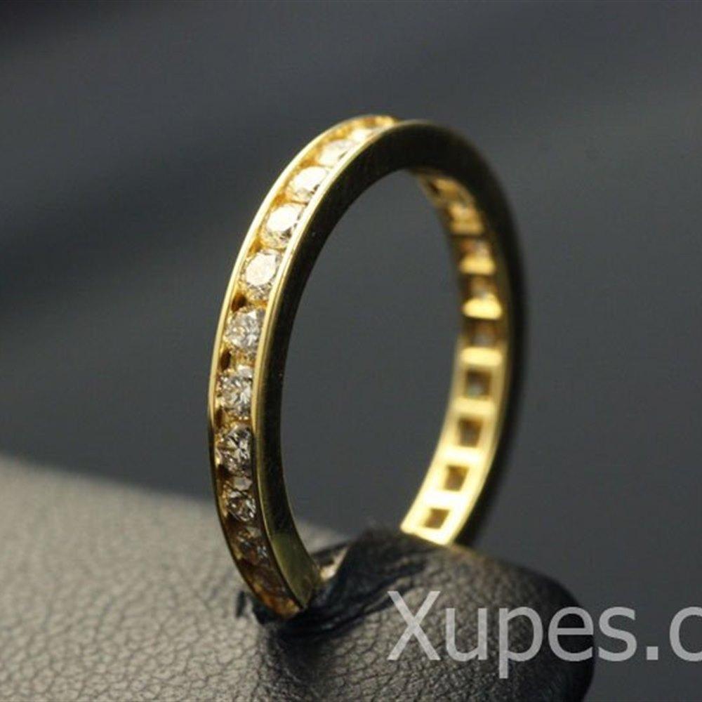 Mappin & Webb 18K Yellow Gold Diamond Eternity Ring