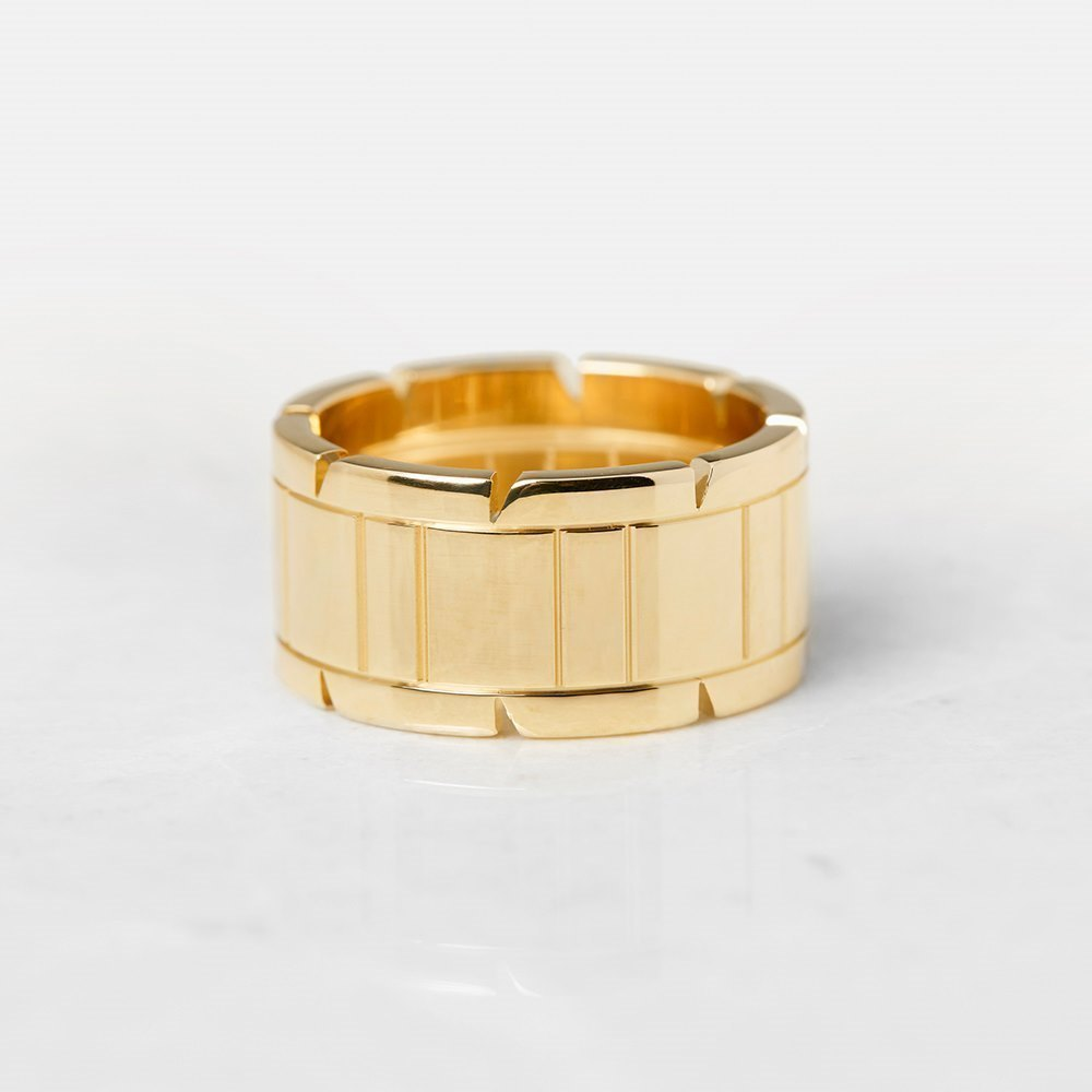 Cartier 18k Yellow Gold Tank Francaise Ring