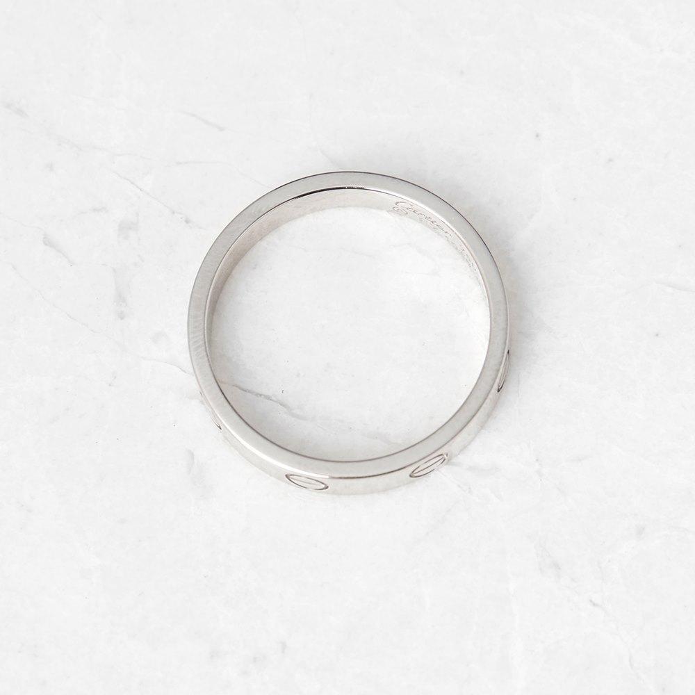 Cartier 18k White Gold Mini Love Ring Size P.5