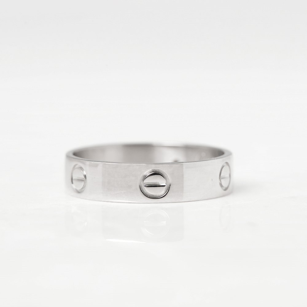 Cartier 18k White Gold Love Ring Size W.5