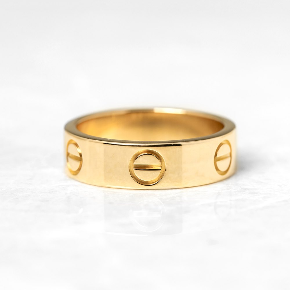 Cartier 18k Yellow Gold Love Ring Size N COM1097