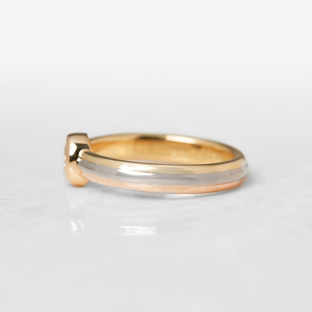 Cartier 18k Yellow, White & Rose Gold 0.15ct Diamond Ring