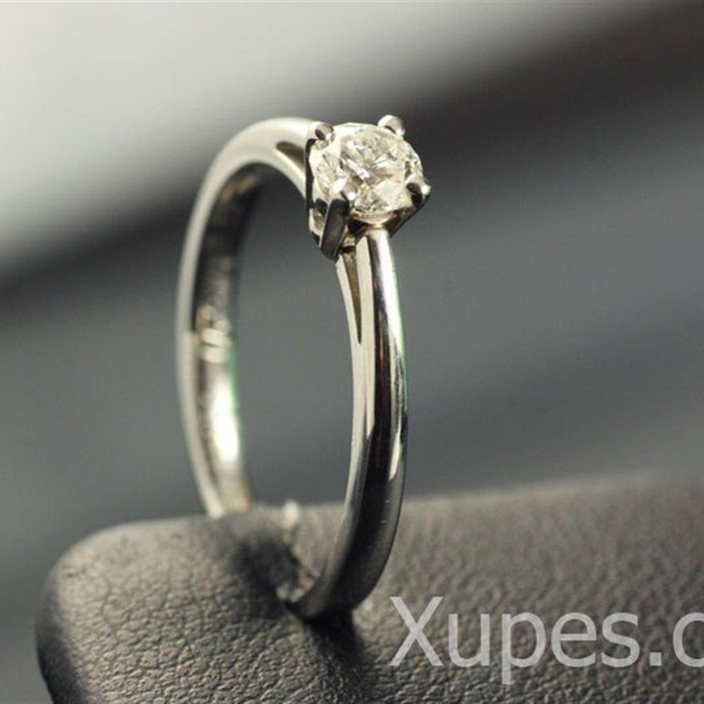 Mappin & Webb Platinum Solitaire Diamond Ring
