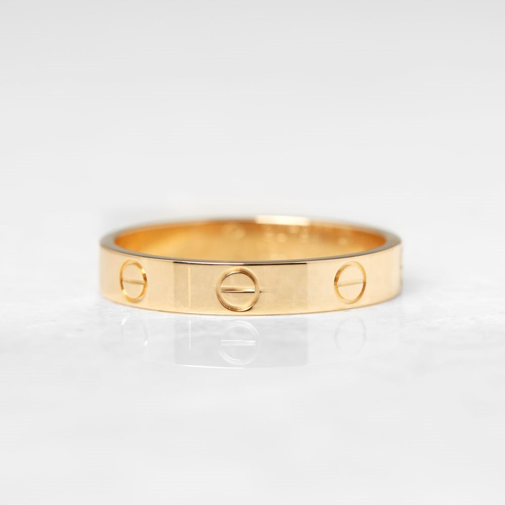 Cartier 18k Yellow Gold Mini Love Ring Size Q