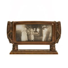 STYLISH ARTS & CRAFTS BRONZE FRAME WITH GRASSHOPPERS c.1900