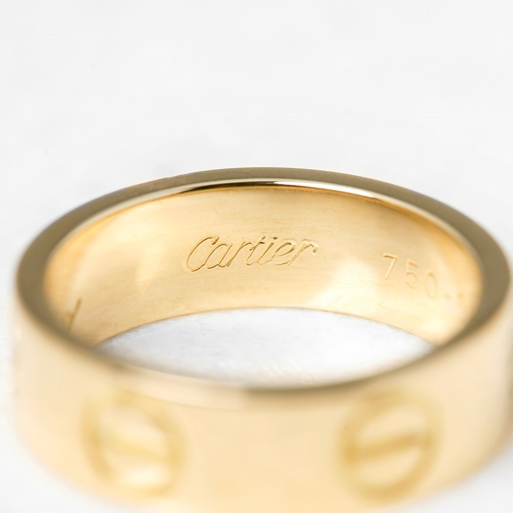 Cartier 18k Yellow Gold Love Ring Size K