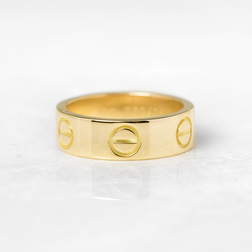 Cartier 18k Yellow Gold Love Ring Size K COM1109 | Second ...