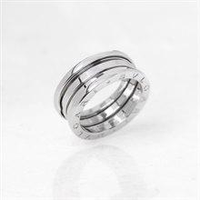 Bulgari 18k White Gold 4 Band B.Zero 1 Ring Size O.5