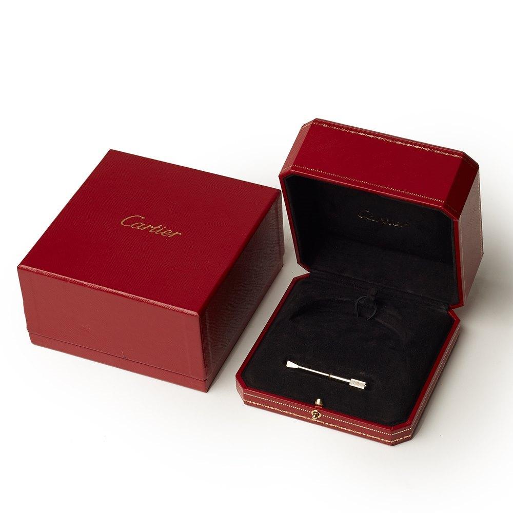 Cartier 18k White Gold Love Bangle Size 21
