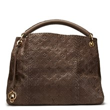 Louis Vuitton Gris Monogram Embossed Python Leather Artsy MM