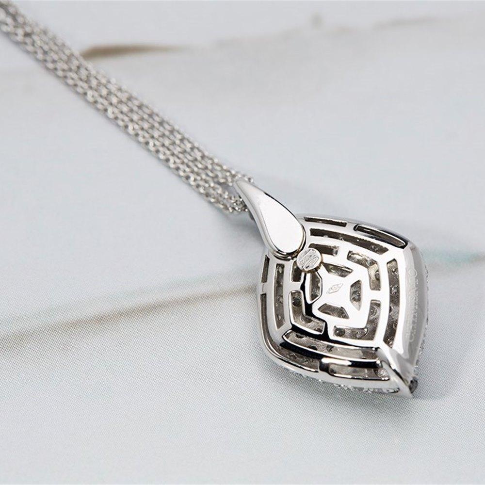 Mappin & Webb Chimento 18K White Gold Black & White Diamond Pendant