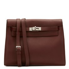Hermès Havane Evergrain Leather Kelly Danse