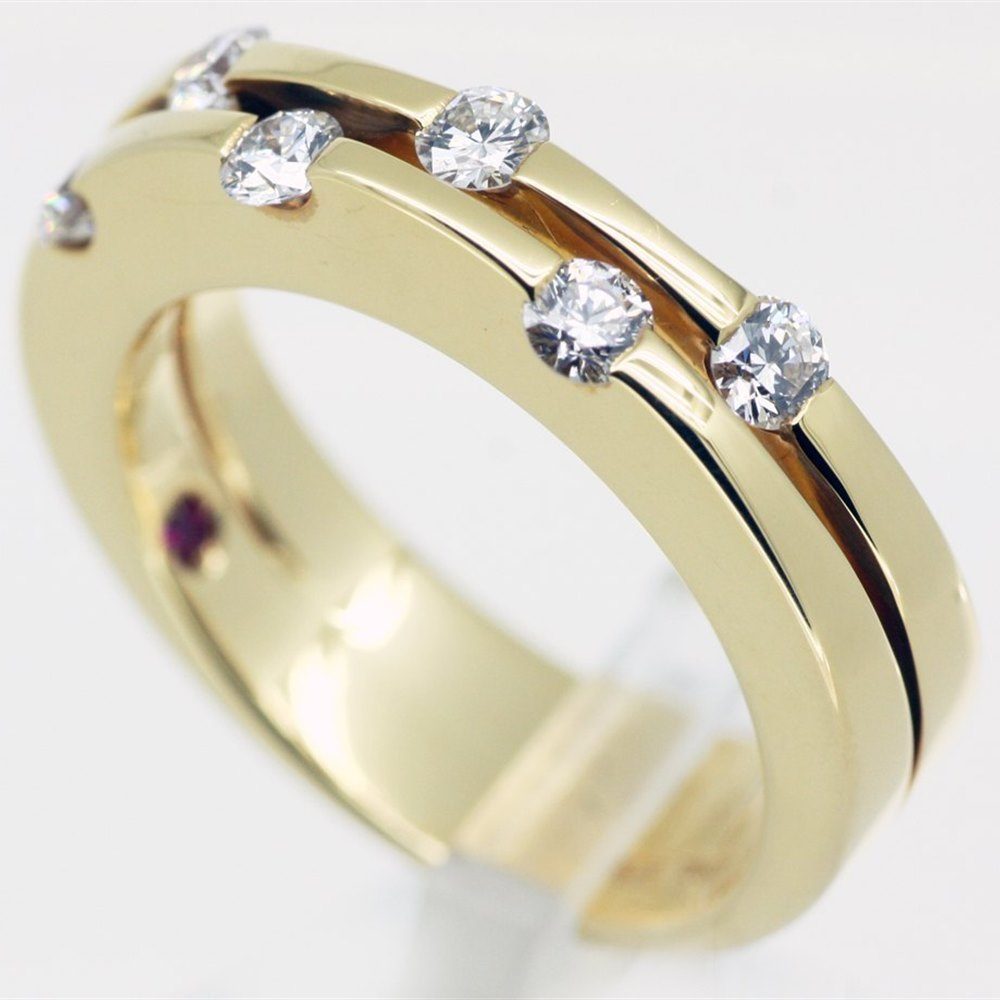Mappin & Webb Roberto Coin Classica Parisienne 18K Yellow Gold Diamond Ring