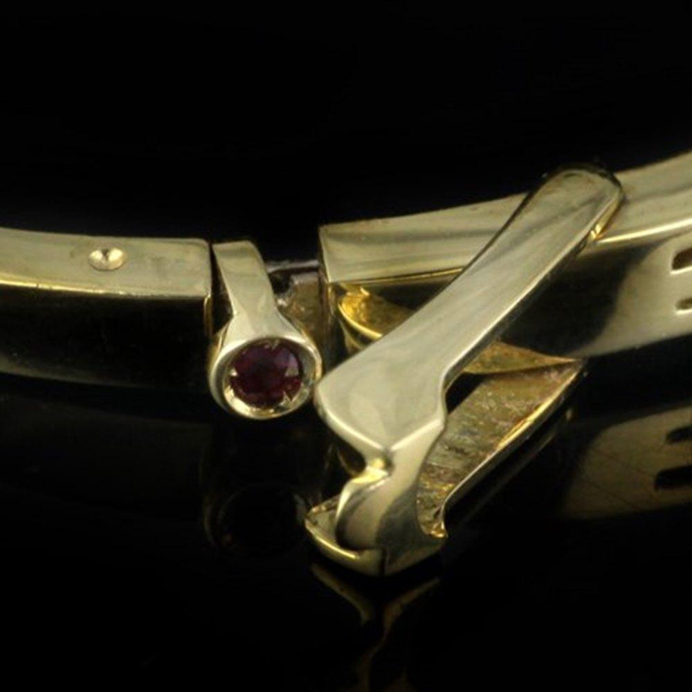Mappin & Webb Roberto Coin Classica Parisienne 18K Yellow Gold 3 Row Diamond Bangle Bracelet