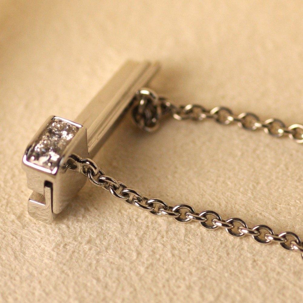 Mikimoto 18K White Gold Pearl & Pave Diamond Bracelet
