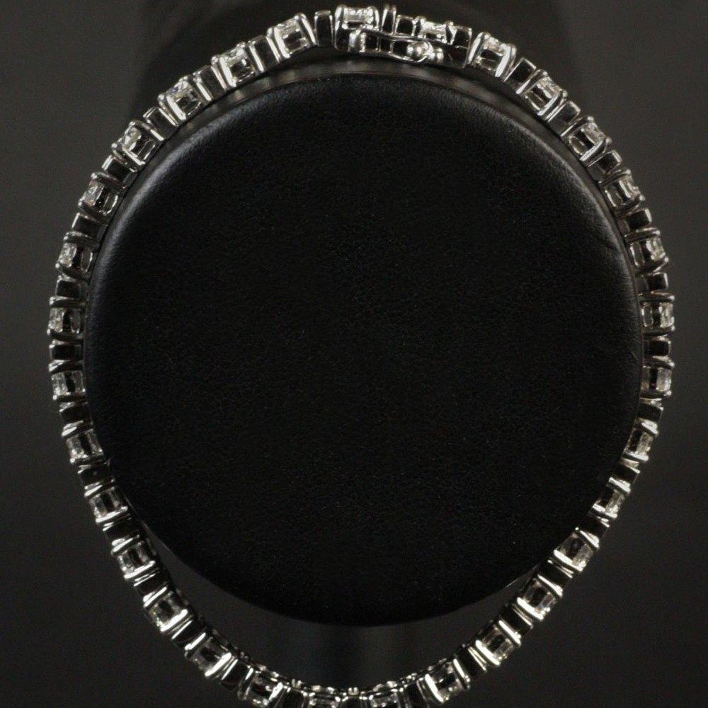 18K White Gold Diamond Tennis Style Bracelet